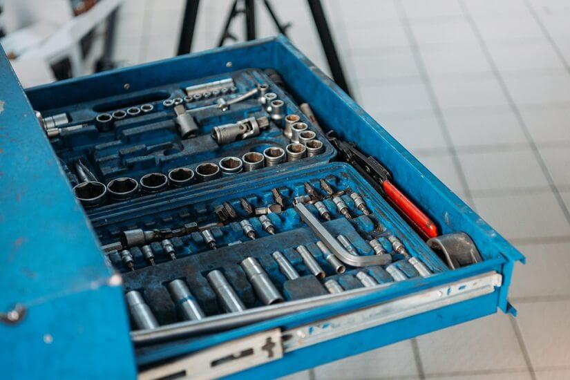 carro de herramientas completo