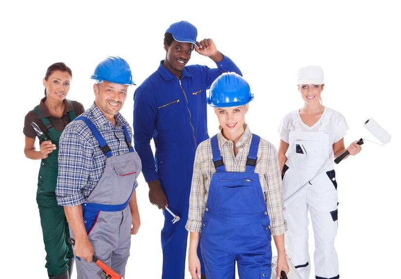 Distintos ejemplos de ropa de trabajo